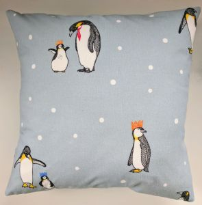 "16"" Cushion Cover in Next Blue Penguin"